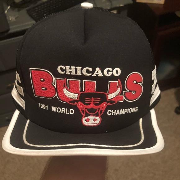 efc26385b22 Vintage Chicago Bulls 1991 Champions SnapBack. M 5c060ec7a31c33e1330f5cb2.  Other Accessories ...